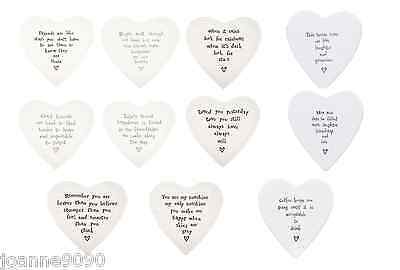 East Of India Ceramic Porcelain Love Heart Shaped Drinks Coaster Gift Present