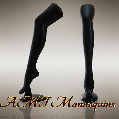 2 Female mannequin legs, to display stockings,thigh highs, socks, --2 black legs