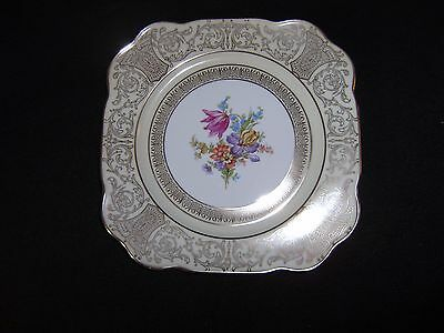 Antique Tirschenreuth Filagree Square Plate Germany US Zone  MINT