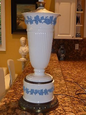"""Vintage Wedgwood Queensware Table Lamp - Absolutely Stunning & Unique -37"""" Tall"""