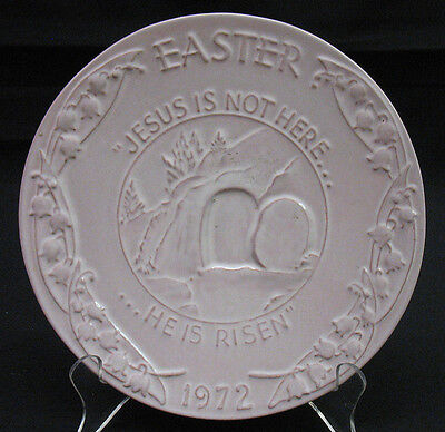 "Frankoma Collector Plate 7 1/2"" Easter JESUS IS NOT HERE...HE IS RISEN  (I2182)"