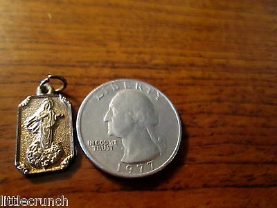 VINTAGE  SMALL CATHOLIC RELIGIOUS ROSARY MEDAL PENDANT OUR LADY OF MEDJUGORJE