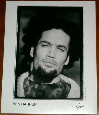Ben Harper 8x10 B&W Press Photo Virgin Records 1997