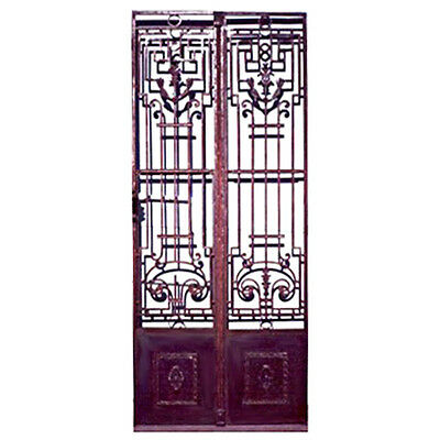 Antique Iron Entry Doors, Classic design, c.1890 France  #5902