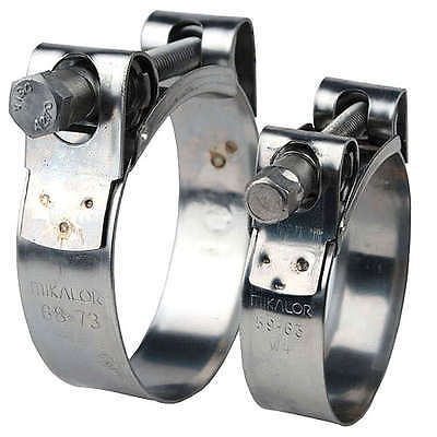 Genuine Mikalor W2 Stainless Steel Hose Clamps / Supra Clamps / Exhaust Clamps