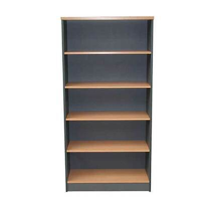 Bookcase Home Office Furniture Bookshelf 180cmx90cm BOOK CASE Storage SOLID BACK