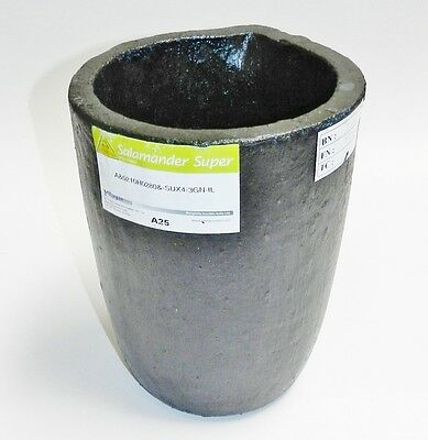 A25 Salamander Crucible Clay Graphite Super A Melting Non Ferrous Metals #25