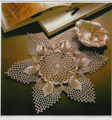 Swan Doilies Crochet Pattern 4 and 6 Swan Doily Pattern (to make)