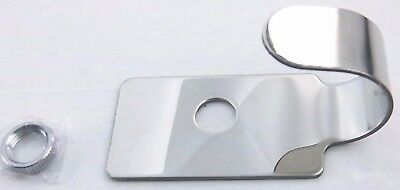 switch guard plate plain stainless steel with face nut for Peterbilt 1987-2000