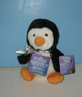 """8"""" NEW Russ SHINING STARS Bean Plush Penguin w/ Tag - Name Your Own Star"""