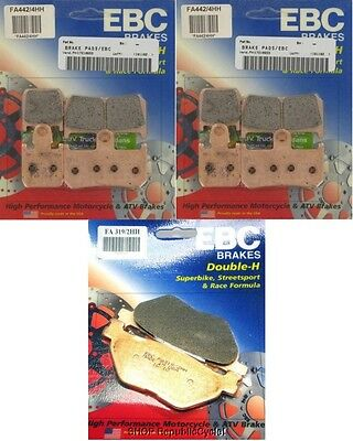 EBC HH Front + Rear Brake Pads (3 Sets) 09-13 Yamaha VMax 1700
