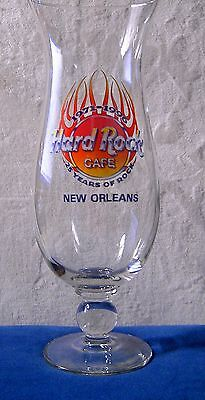 Hard Rock Cafe New Orleans Hurricane Glass 25 Years Of Rock 1971 -1996 flames