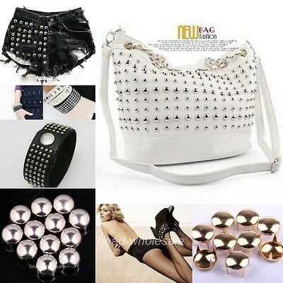 200pcs Lots Punk Round Cone Stud Rivet Spike Nailhead For Costume /Bags/Shoes