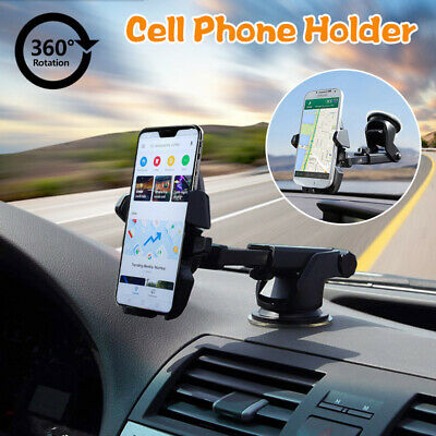360° Car Windshield Mount Holder Bracket Cradle For iPhone Cell Mobile Phone GPS