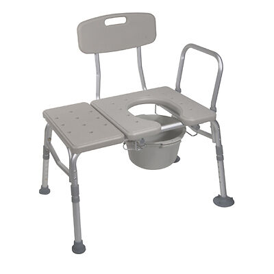 DRIVE 12011KDC-1 Deluxe Transfer Bath Shower Bench Chair Commode Toilet Seat