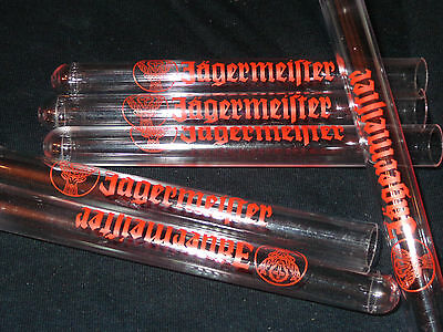 (6) Jagermeister deer head logo Test Tube Shots NEW