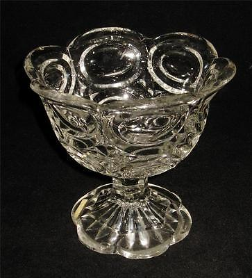 EAPG Early American Pressed Glass FLINT Pedestal Footed Bowl Compote