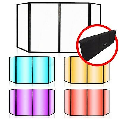 Lime Light Foldable Disco DJ Lighting Screen 4 Panel Façade Deck Stand Booth