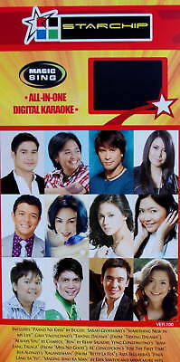 TAGALOG 10 or Tagalog STAR Magic Sing SONG CHIP with song List by Entertech Mic