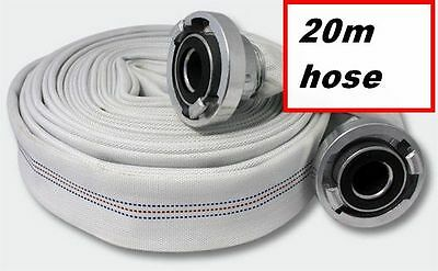"WATER PUMP LAYFLAT FIRE HOSE Discharge Water Hose ALUMINIUM COUPLINGS 2"", 20m"