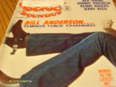 Bill Anderson Covers Country Song Roundup Magazine January 1977 Jerry Reed
