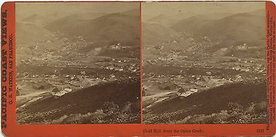 Nevada, Pacific Coast Views stereoview 1860's Town view of Gold Hill, NV