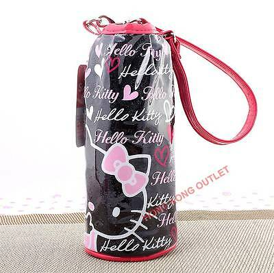 Hello Kitty Thermo Thermal Insulated Cooler Water Bottle Bag Japan Sanrio C39b