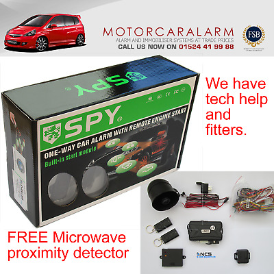 Spy Car Alarm System & Immobiliser Remote Engine Start & Central Locking