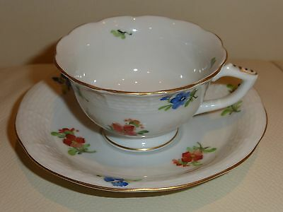 HEREND MILLE FLEURS MAGDOLNA CUP AND SAUCER - IMPRESSIVE!