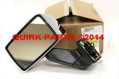 2006-2007 Hummer H3 Front Left Hand Chrome Outside Mirror Assembly OEM NEW