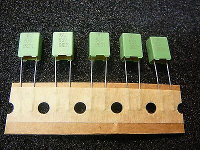 25pc 0.56uf, 560nf 63V  5/%  polyester film capacitors .56uf