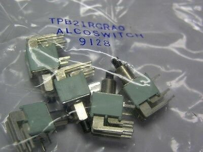 5 Alcoswitch TPB21RG-RA-0 DPDT Right Angle PCB Mount Pushbutton Switches