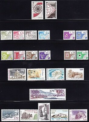 France #1814//2053 Mnh 44 Different With Complete Sets, Cv$60.00 Fu71