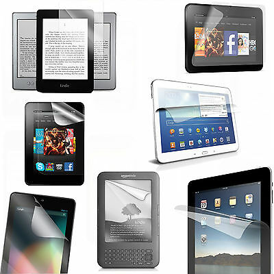 Clear Lcd Screen Protector Guard Film Cover For Various Tablets & E-Readers