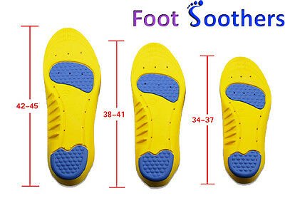FootSoothers™ DualPro Memory Comfort Orthotic Shoe Inserts Insoles Pads