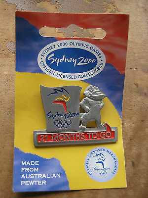 sydney 2000 olympic games pin pewter 21 months to go