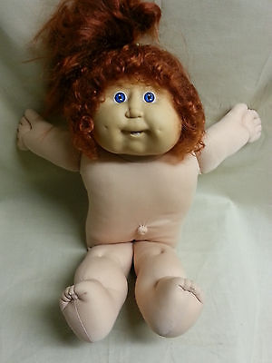 Vintage Cabbage Patch Kids Doll 1978 1982 Red Hair Xavier Roberts Blue Eyes