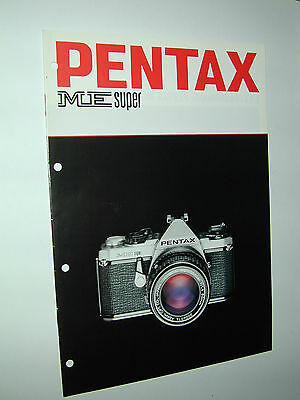 PENTAX  ME SUPER catalogue publicitaire photographie photo