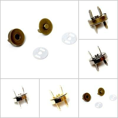 Magnetic Bag Fasteners & Clasps - Available in 4 Colours & 2 Sizes