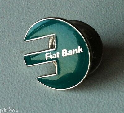 Fiat Bank Logo Pin Turquoise Green [6049]