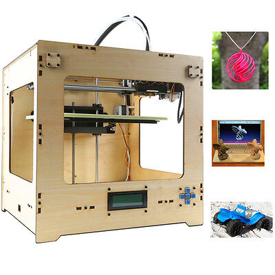 "3D PRINTER 7.8"" REPLICATOR PLA & ABS MATERIAL DOUBLE EXTRUDER PRINTING MACHINE"