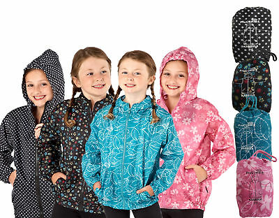 ProClimate Kids Girls Kagoule Showerproof Lightweight Raincoat Mac In Bag Sale