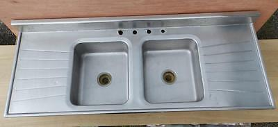 "Vintage Industrial Stainless Steel Sink Restaurant Kitchen 66"" 3283-14"