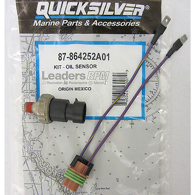 MerCruiser New OEM Oil Pressure Sensor Switch & Wire Harness Kit 87-864252A01