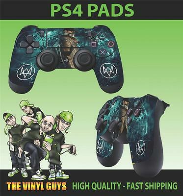 PS4 Sticker Watch Dogs Dedsec Aiden Pearce Hacker Skin Controller Pad Decals