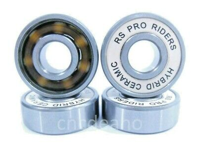 Premium Ceramic 608 Rs Wheel Bearings For Skateboard Scooter Inline Roller Skate