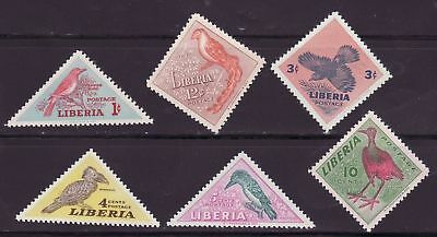 Liberia # 341-46 MNH Complete Set Fauna Birds Triangle
