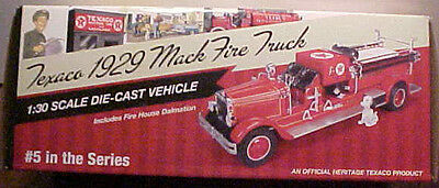 2014 Texaco Fire Truck 1929 Mack #5 In The Series Of 6  Mint Box, 1/30 Sold Out