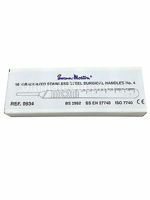 Swann-Morton No. 4 Graduated Satinless Steel Surgical Handle (Box of 10)