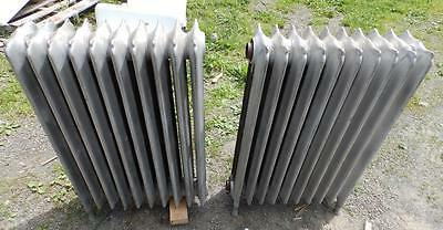 Antique Radiator Hot Water 20 Sections Decorative Cast Iron Plumbing 3297-14